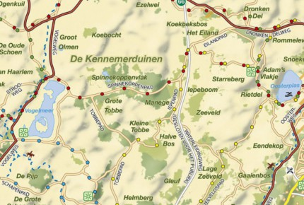 Cycling and hiking map