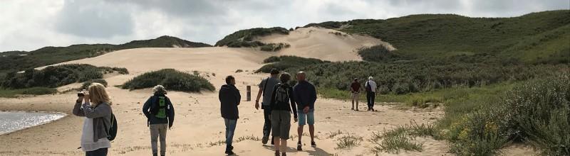 Fietsen en struinen door stuivende duinen