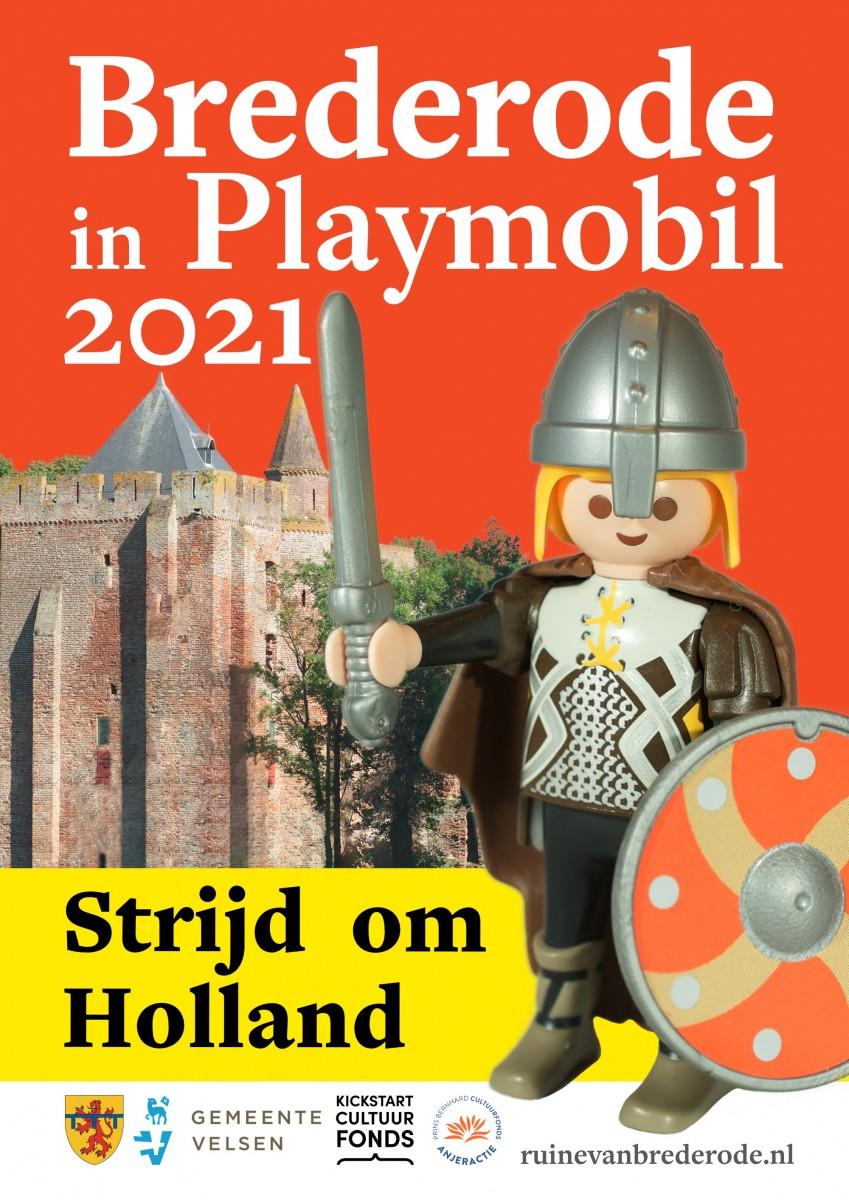 Foto van Bezoek Ruïne van Brederode met Playmobiltentoonstelling 'Strijd om Holland'